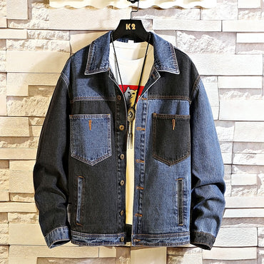 Denim Jeans Jacket Stand Collar Casual Fashion Clothes