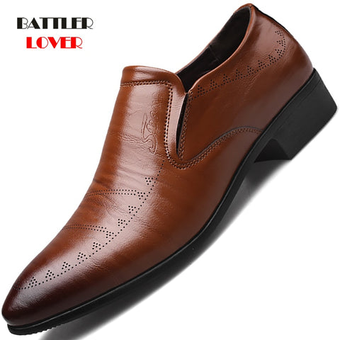 Classic Business Dress Fashion Elegant Formal Wedding Slip On Office Oxford Shoes