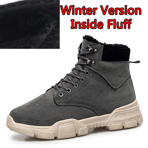 Male Waterproof Ankle Fashion Casual Shoes Snow Warm Boots