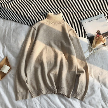 Pullover Turtle Neck Jumper White Knitwear Pull Homme Turtleneck