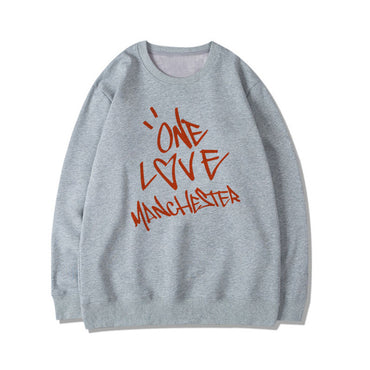 Ariana Grande One Love Manchester Letter Print Letter Pullover Sweatshirts