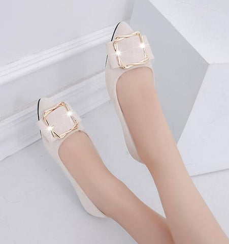 Loafer Ballerina Flats Metal Decoration Casual Female Shoes