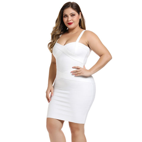 New Arrivals Spaghetti Mini White Bandage Sexy Club Party Dress