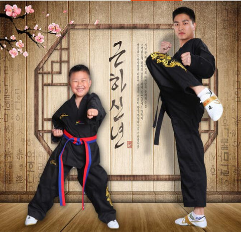 Kimono Karate Black taekwondo Embroidery Child Taekwondo