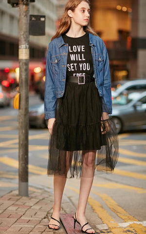 Vero Moda New Arrivals Lace-up Short Denim Jacket