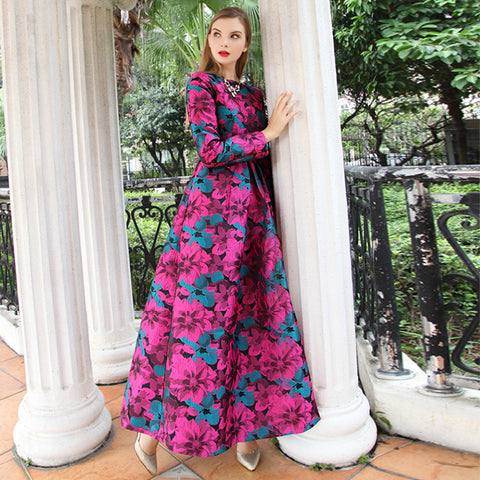 Sleeve Long Maxi Elegant Boho Fashion Vintage Floral Dresses