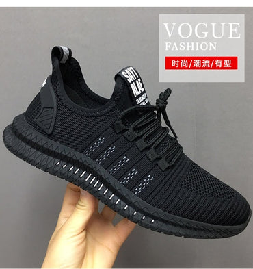 Air Mesh Casual Men Black Sneakers Man Trainers Footwear