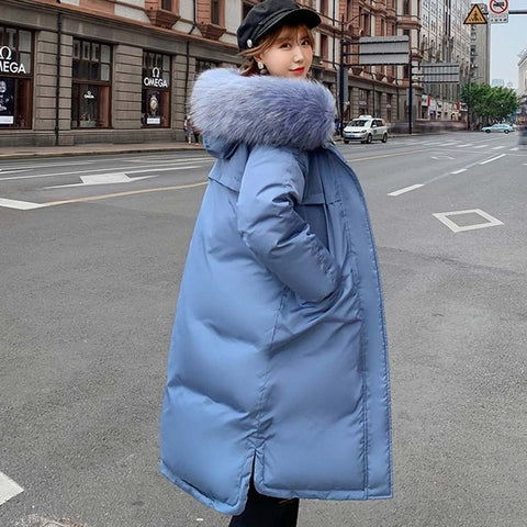 Two Sides Wear Parkas Jackets Coats Faux Fur Hooded Casual