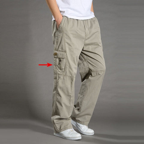 Sagging cotton Trousers plus size sporting Joggers Casual pants
