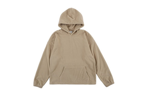 Icon Front Pocket Plain Color Simple Style Hip Hop Hoodie