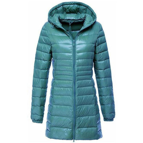 Jacket Female Padded Hooded Parkas Ultra Light Portable Down Coats