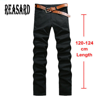 Extra Long Jeans Black Stretch Twill Pants Classic Jeans Trousers