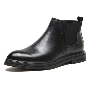 Leather Shoes Ankle Boots Fashion Brand Male Footwear