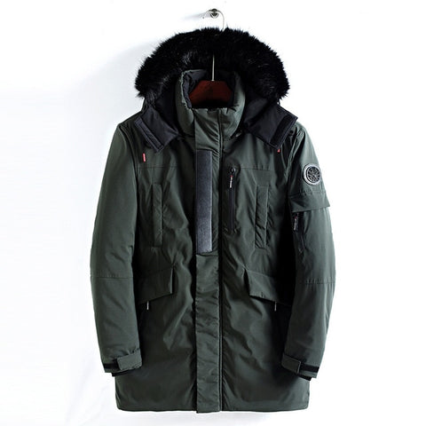 Long Fur Collar Hooded Thick Warm Army Military Outerwear Sports Coat