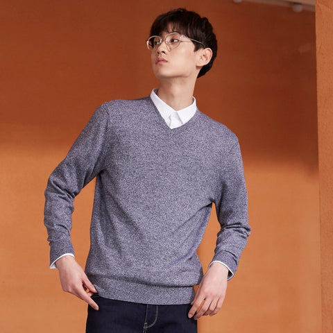 New Brand Wool Fashion Long Sleeve Knitted Cotton Sweater