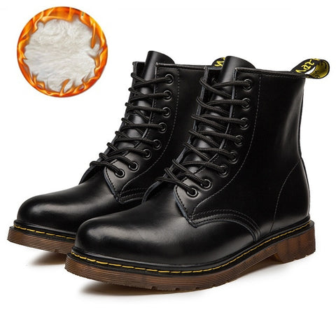 Martin Leather shoes High Top Fashion Warm Snow shoes Dr. Motorcycle Ankle Boots