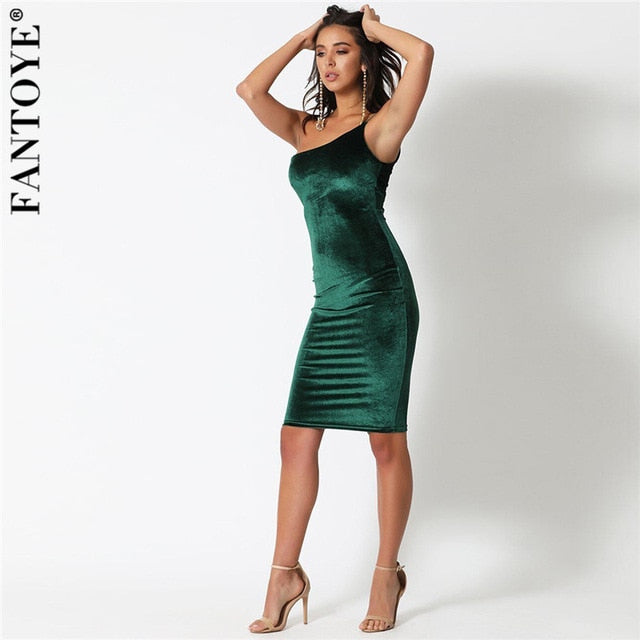 Shoulder Party Arrival Elegant Bodycon Sexy Flannel Celebrity Club Dresses