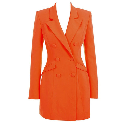 Long Sleeve Elegant Celebrity Elegant Sexy Spring Blazer Dress