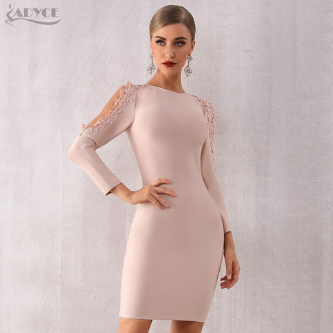 Lace Bandage Vestidos Bodycon Elegant Celebrity Party Dress