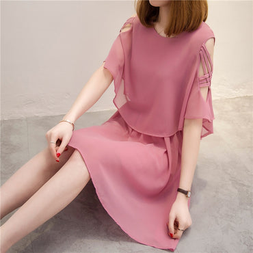 new over A word outfit's department show thin waist temperament dress