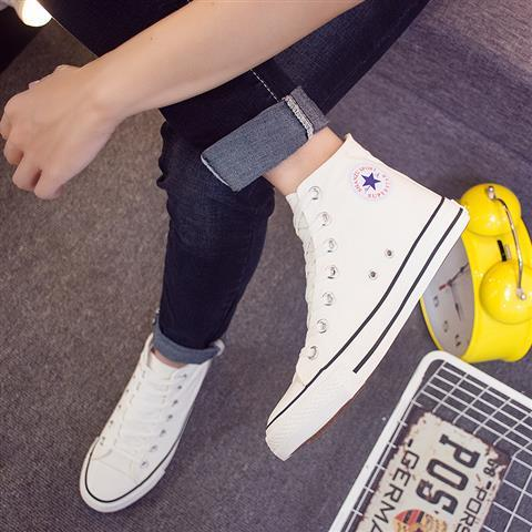 High top canvas vulcanized sneakers classic unisex sneakers