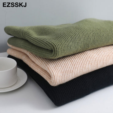 casual chic thick soft cashmere oversize Sweater Pullover