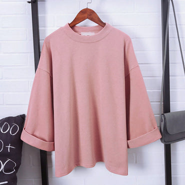 Oversize Loose Round Neck Casual T shirts