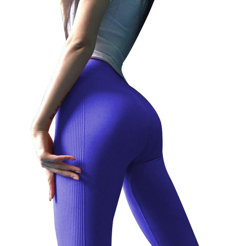 Seamless Ladies Sweat Pants Trousers High Waist Solid Fitness Leggings