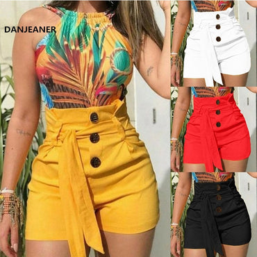 Sexy Ladies High Waist Casual Buttom Bandage Beach Hot Shorts
