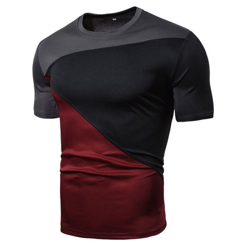 Slim Fit Crew Neck Sports Running Short Sleeve Shirt Casual Tee Tops