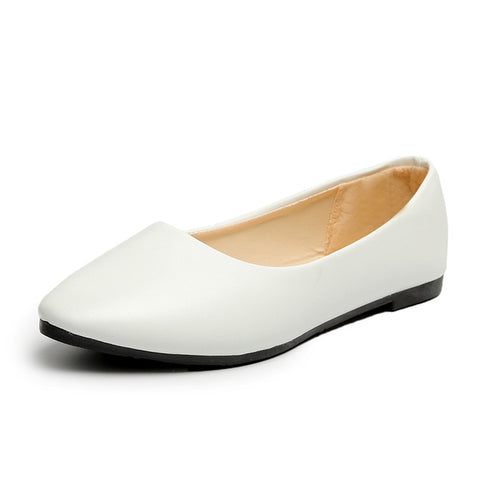 Faux Suede Slip on Ballet Flats Loafers Boat White Ladies Flat shoes