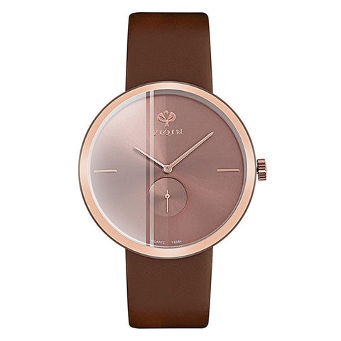 New Fashion Quartz Wristwatches Large Dial Ladies High Quality Leather Watches