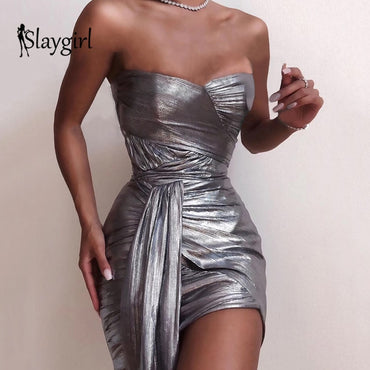 Wrap Bodycon Sexy Strapless Bandage NightClub Party Mini Bodycon Dresses