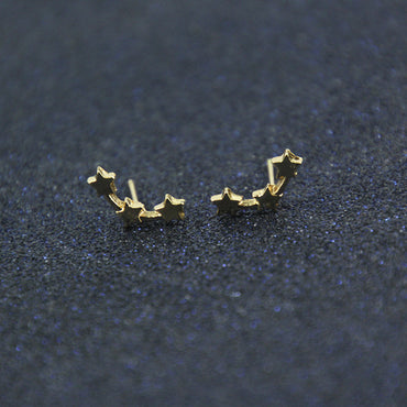 latest design brand five-pointed star minimalist temperament trend fashion earrings