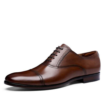 Brand Full Grain Genuine Leather Business Dress Shoes