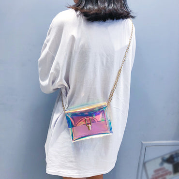 Laser Crossbody Chain Mini Shoulder Circle Small Messenger Bag