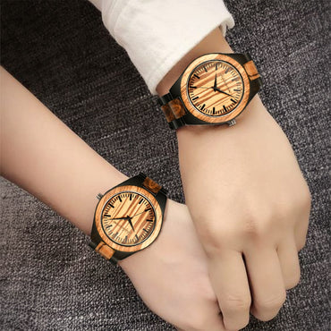 Quartz Personalized LOGO WORDS MESSAGE Engraved Wood Watch
