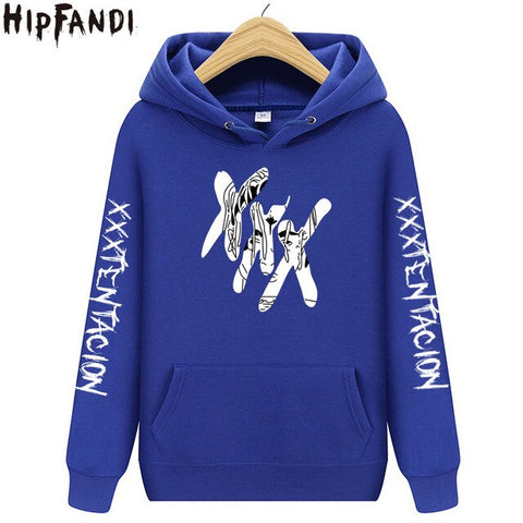 Rapper xxxtentacion hoodies black Sweatshirts hoody style Hip Hop fashion