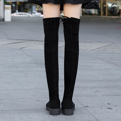 Over The Knee Stretch Fabric Thigh High Sexy Shoes Long Boots
