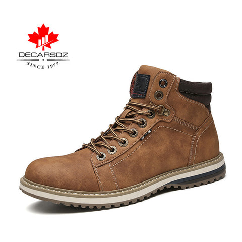 Basic Fashion Casual Male Brand Leather Lace-up Ankle Hombre Work Boots
