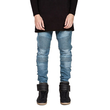 Biker Fashion Hiphop Skinny Streetwear Hip Hop Stretch Hombre Slim Jeans