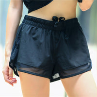 sport Anti-lighting two in one double short running fitness yoga shorts
