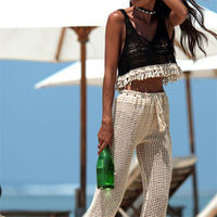 Crochet Short Section Tassel Slim Outer Wear Shirt Trend Tank Tops