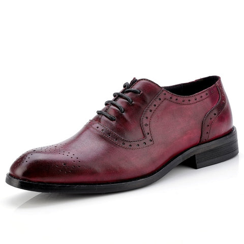 Cow Leather Brogue Wedding Business Flats Brogue Vintage Oxford Shoes