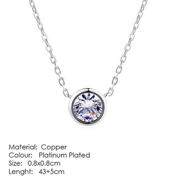Necklaces & Pendants Jewelry Silver Color Rose Gold Chain Jewellery