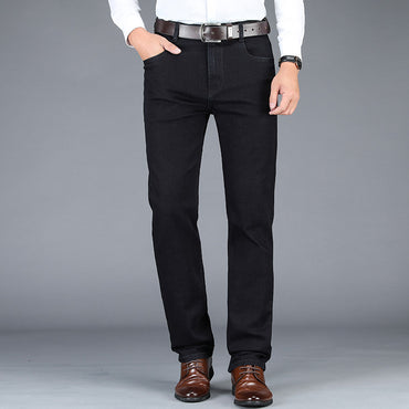 Stretch Business Casual Classic Style Trousers Jeans