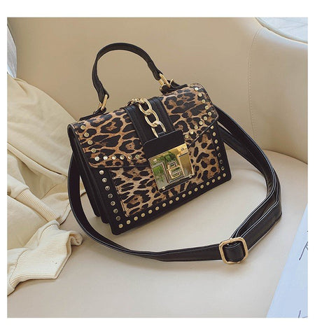 Fashion Leopard Messenger Brand Decoration Ladies Party Handbags