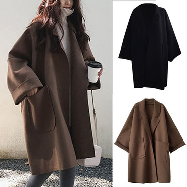 Coats Fashion Pocket Long Sleeve Cardigan Casual Loose Sweater