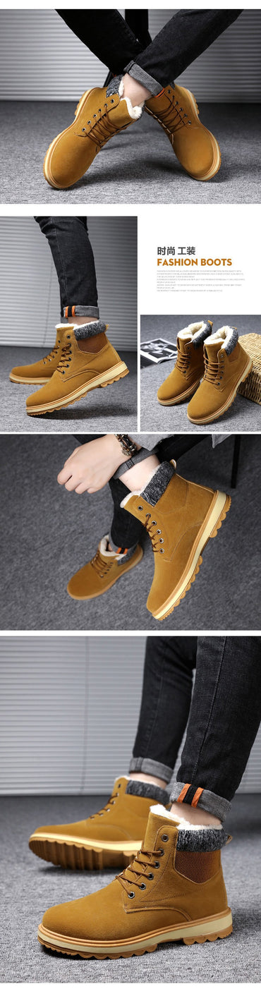 Fur Ankle Casual Shoes High Quality Plush Outdoor Work Boots