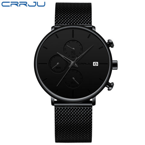 top brand Luxury business Fashion Casual wristWatch mesh steel watches